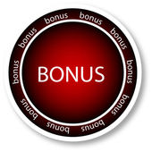 Bonus. röd — Stockvektor