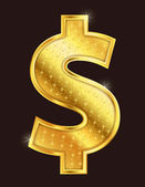Gold Dollar — Stockvector