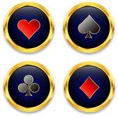 Poker chips — Stock Vector