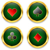 Poker chips — Stock Vector