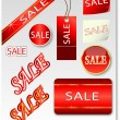 Red sale — Stock Vector