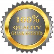 Guarantee golden label — Stock Vector