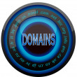 Stock Vector: Domain icon