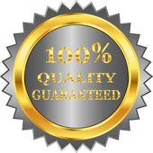 Gyllene garantimärke — Stockvektor