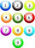 NUMBER-ball — Stock Vector