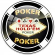 Texas hold'em poker — Stock Vector #8624522