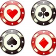 Poker chips — Stock Vector #8624732