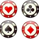 Poker chips — Stock Vector #8624732