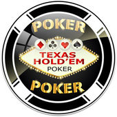 Texas hold'em poker — Stock Vector