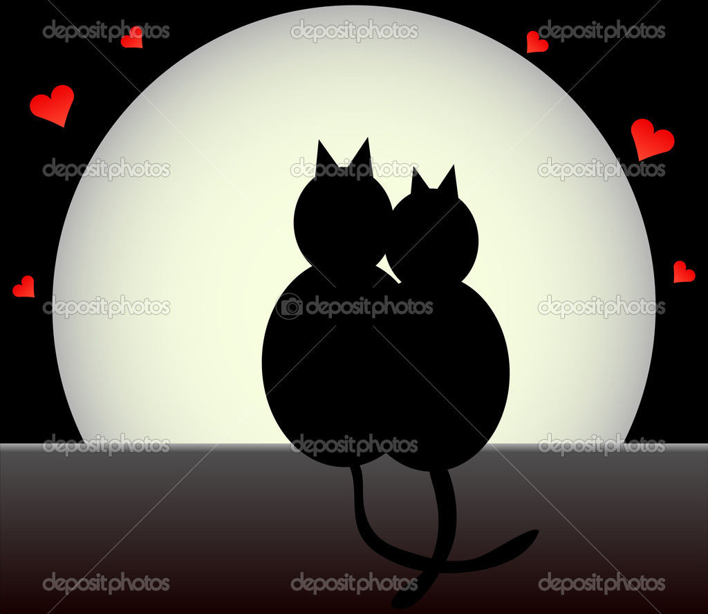 Black cats — Stock Vector #8624262