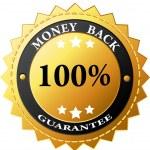 Vector money back label — Stock Vector