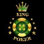 King Poker — Stock Vector