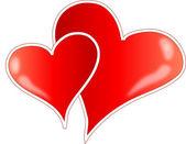 Två hjärtan — Stockvektor