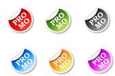 Sticker promo — Stock Vector