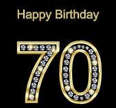 Happy Birthday 70 — Stock Vector