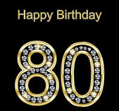 Happy Birthday 80 — Vettoriale Stock