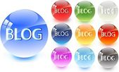 Blog icon — Stock Vector