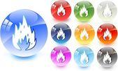 ícone de fogo — Vetorial Stock