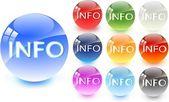 Info-symbol — Stockvektor