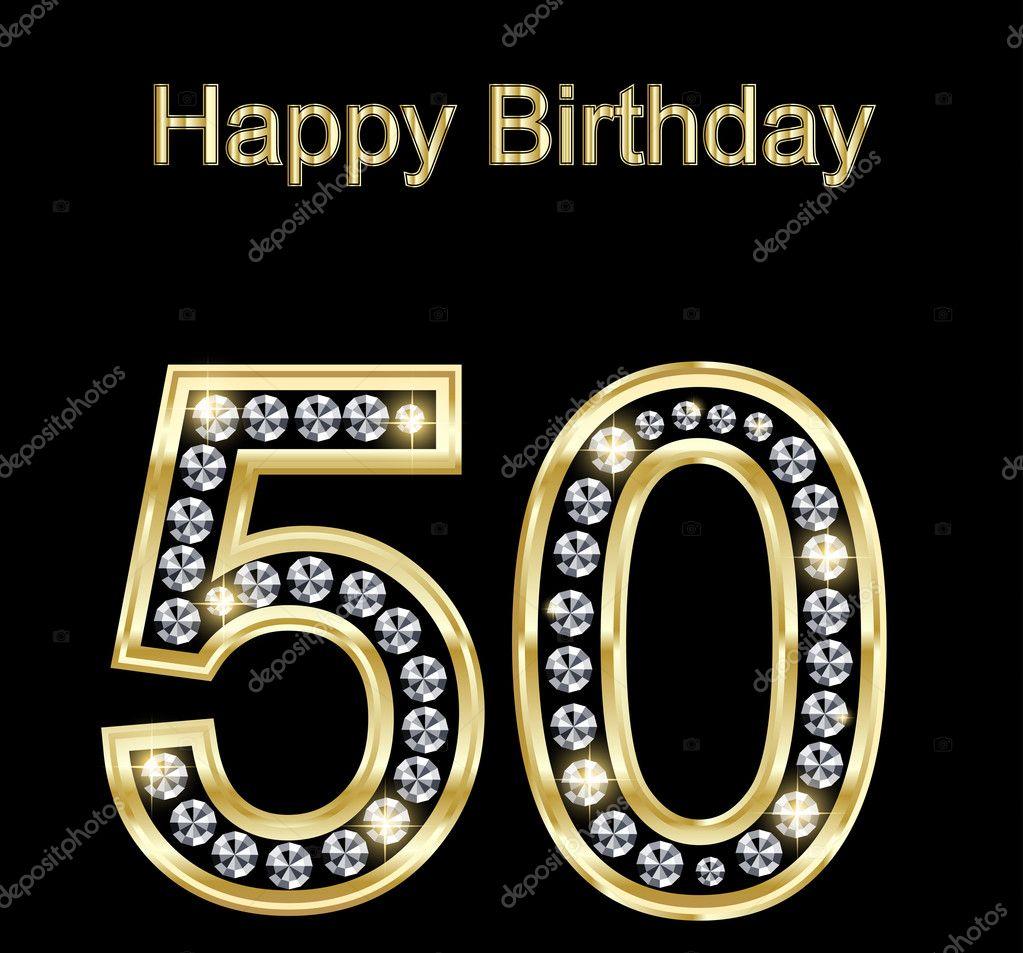 Happy Birthday 50 — Stock Vector © Kristina2211 #8705617