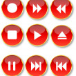 Glossy buttons - Stockvectorbeeld