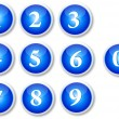 Numbers Buttons — Stock Vector #8710718