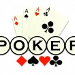 Poker game logo illustration abstract background - ベクター素材ストック