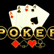 Royalty-Free Stock ベクターイメージ: Poker game logo illustration abstract background