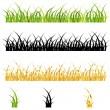 Vector grass collection — Stock Vector