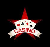 Red star casino — Stock Vector