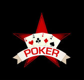 Poker star — Stock Vector