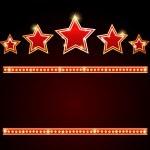 Stars over copyspace — Stock Vector
