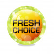 Fresh choice — Stock Vector