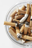 Cigarette stubs — Stock Photo