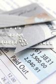 Cut up credit card — Stock Photo