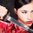 Stock Photo: Womand katansword
