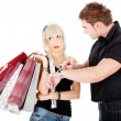Time at shopping — Stock Photo