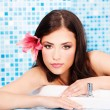 Stock Photo: Woman relaxing in spa center