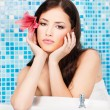 Woman relaxing in spa center — Stock Photo #8275531