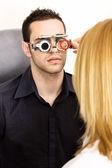 Trial frame for eye testing — Stock Photo