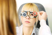 Optometrist — Stock Photo