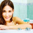 Stockfoto: Womin bathtub