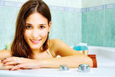 Woman in the bathtub — Stock Photo