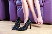 Female foot massage — Stock Photo