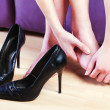 Female foot massage — Stock Photo