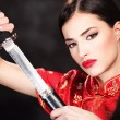 Woman with sword — Stock Photo #8892033