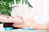 Facial massage — Stock Photo