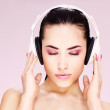 Woman with headphones — Stock Photo #8916818