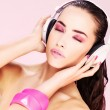 Woman with headphones — Stock Photo #8916833