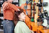 Had massage in hair salon — Stock Photo